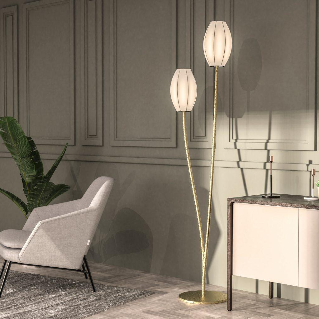 Lampadaire design élégant et fabriqué en France.